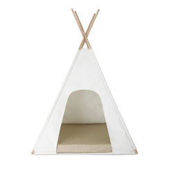 Teepee - Milk with Sand Cushion