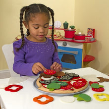 Load image into Gallery viewer, Felt Play Food - Pizza Set