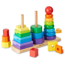 Load image into Gallery viewer, Geometric Stacker Toddler Toy