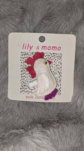 lily & momo hair clip - rooster