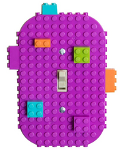 "Load image into Gallery viewer, Light Switch Cover ""Lego"" - by Strictly Briks (Assorted Colors)"