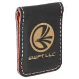 Engraved Leatherette Money Clip