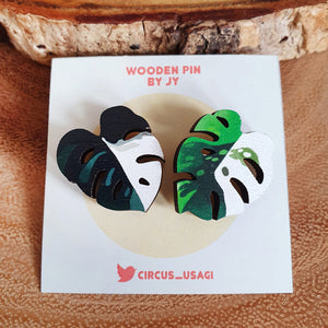 Wooden pins | Variegated leaves