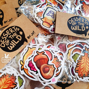 Sticker set | Desserts of the wild
