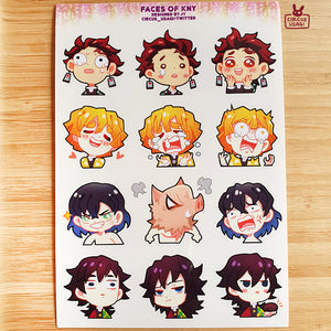 Transparent sticker sheet | KNY faces