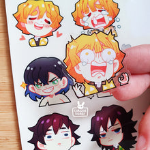 Load image into Gallery viewer, Transparent sticker sheet | KNY faces