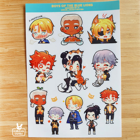 Transparent sticker sheet | Boys of the blue lions