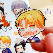 Load image into Gallery viewer, Transparent sticker sheet | Boys of the blue lions