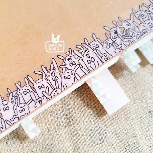 Washi tape | Wabbits (clear tape)