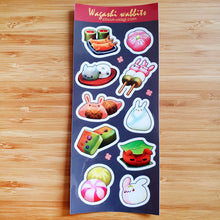 Load image into Gallery viewer, Transparent sticker sheet | Wagashi wabbits