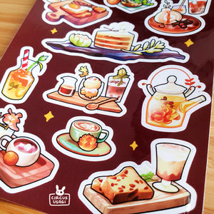 Transparent sticker sheet | Succulent cafe