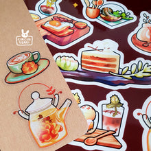 Load image into Gallery viewer, Transparent sticker sheet | Succulent cafe