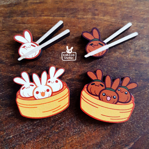 Wooden pins | Bao bunnies