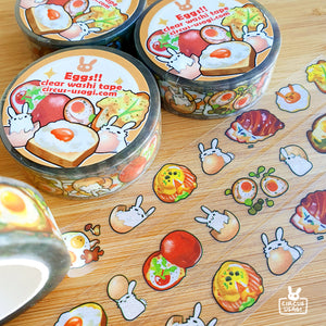Washi tape | Eggs (clear tape)