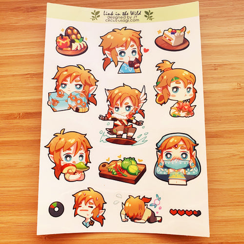 Transparent sticker sheet | Link in the wild