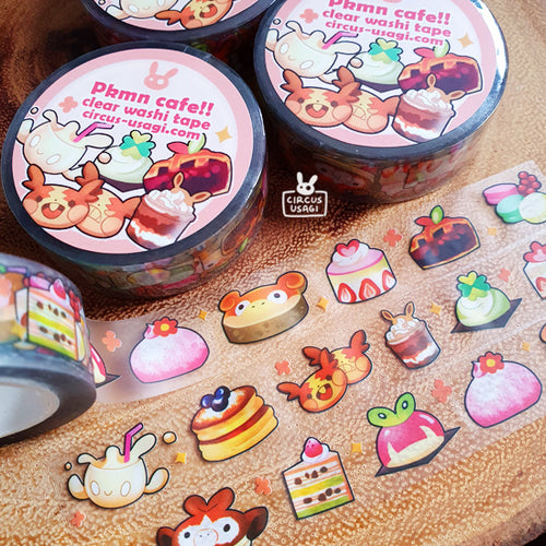Washi tape | Pkmn cafe (clear tape)