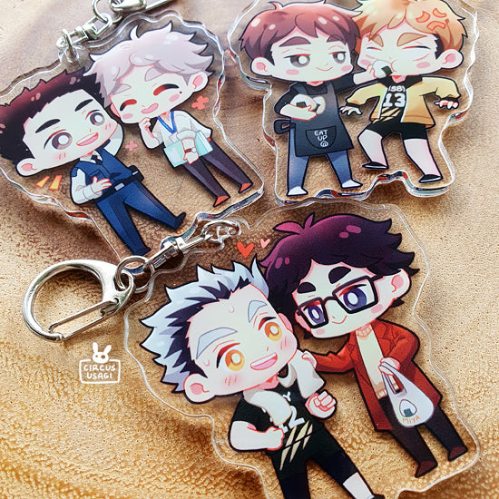 Acrylic charms | Haikyuu but older