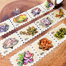 Load image into Gallery viewer, Washi tape | Succulent stamps