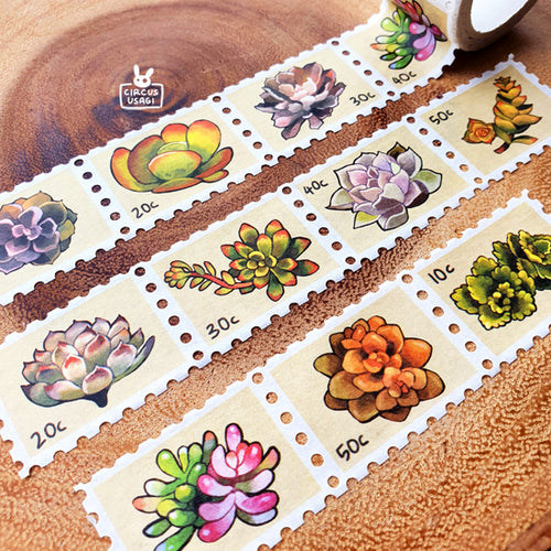 Washi tape | Succulent stamps