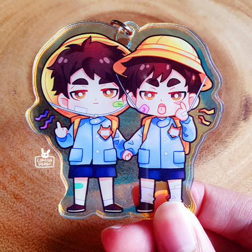 Acrylic (holo) charms | Rude miya twins