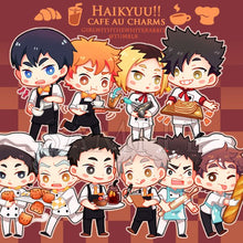 Load image into Gallery viewer, Acrylic charms | Haikyuu cafe AU