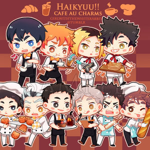 Acrylic charms | Haikyuu cafe AU