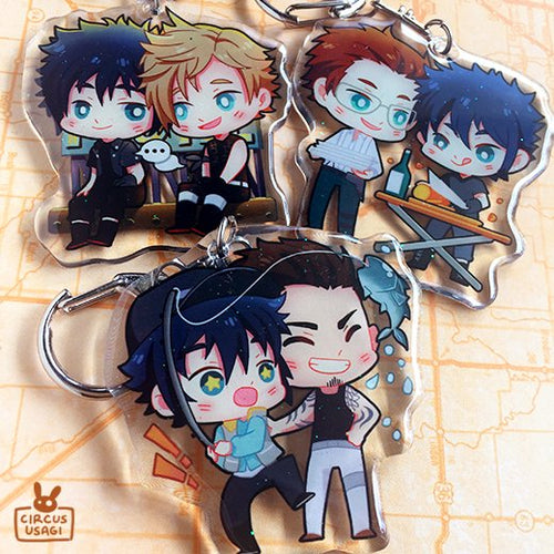 Glitter epoxy charms | FFXV bros bonding