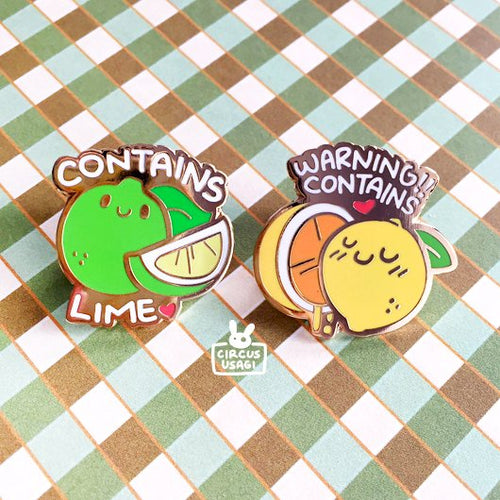 Enamel pins | Rated for lemon/lime