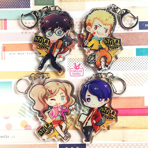 Glitter epoxy charms | Stylish phantom thieves