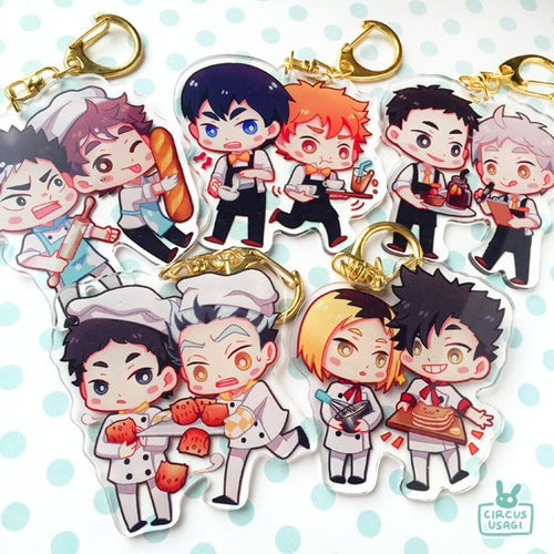 Charms | Haikyuu cafe AU