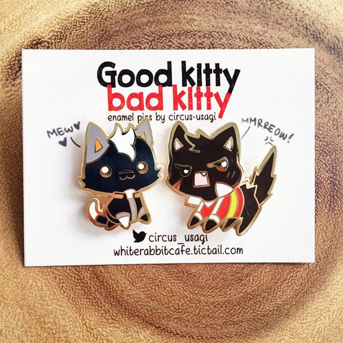 Enamel pins | Good kitty bad kitty (set)