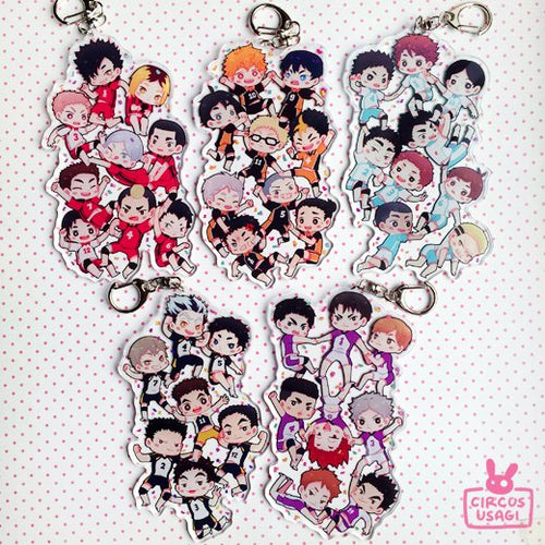 Acrylic charms | Haikyuu teams