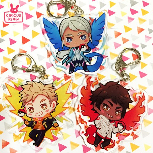 Acrylic charms | Pokemon Go team leaders