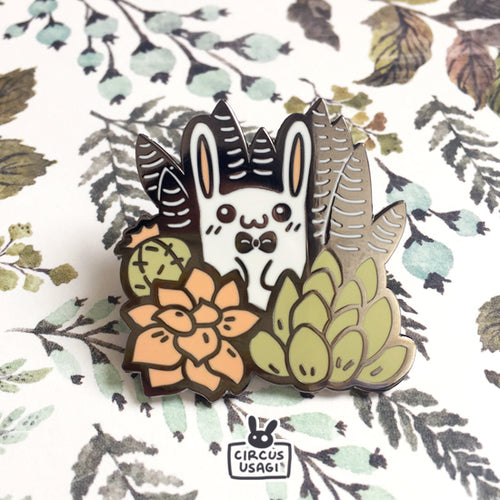 Enamel pins | Bunny in succulents