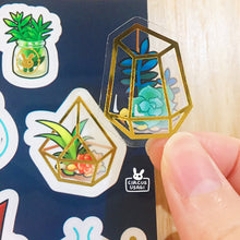 Load image into Gallery viewer, Transparent sticker sheet | Succulent wizard's collection