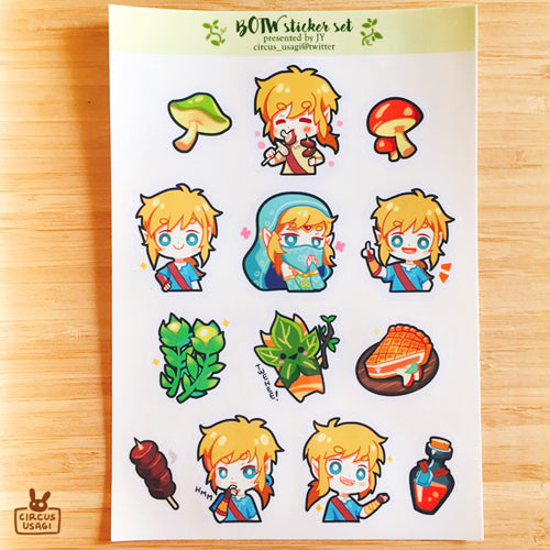 Transparent sticker sheet | BOTW
