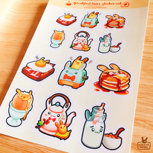 Load image into Gallery viewer, Transparent sticker sheet | Breakfast buns