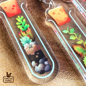Acrylic charms | Test tube terrariums