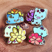 Load image into Gallery viewer, Enamel pins | Succulent bulbasaurs