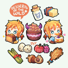 Load image into Gallery viewer, Sticker set | Desserts of the wild