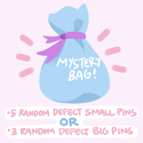 Random enamel pin seconds (defects) | Mystery bags