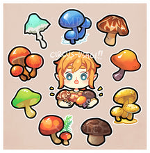 Load image into Gallery viewer, Sticker set | Shrooms of the wild