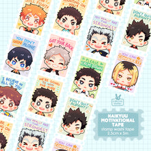 Load image into Gallery viewer, Washi tape | Haikyuu motivational stamps