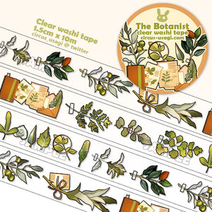 Washi tape | The botanist (clear tape)