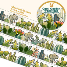 Load image into Gallery viewer, Washi tape | Cacti garden (clear tape)