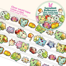 Load image into Gallery viewer, Washi tape | Succulent bulbasaurs (clear tape)