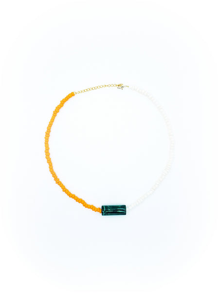 Collier Lollipop, Vert/Blanc/Orange