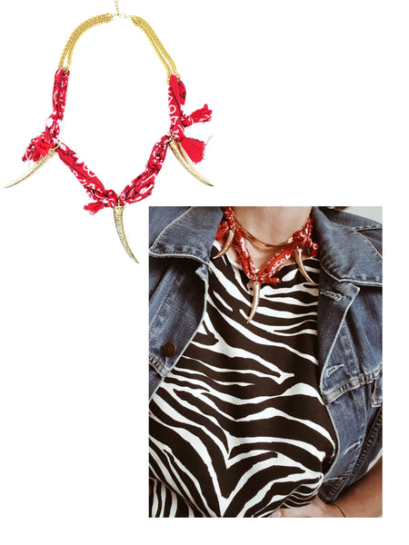 Collier Goa, Rouge