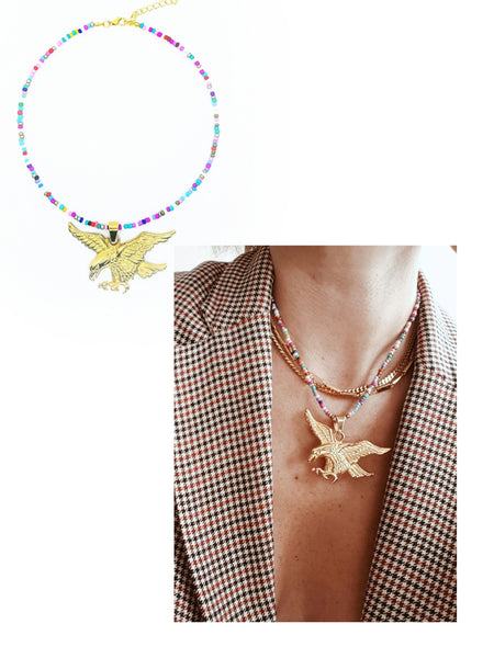 Collier Eagle, multicouleur