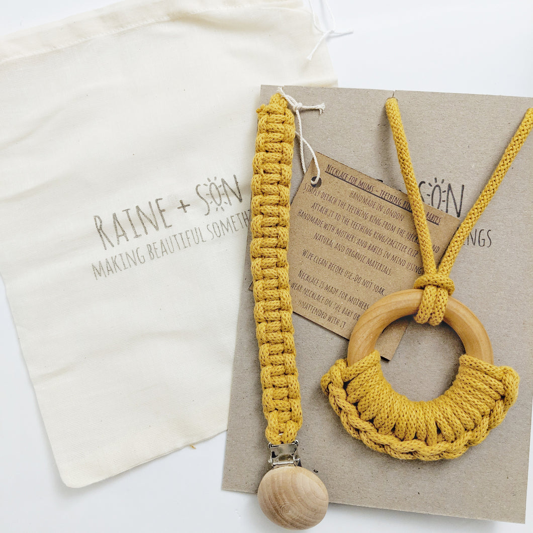 Maple - necklace for mum, teething ring for baby